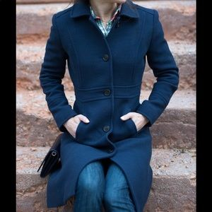 J Crew Lady Day Thinsulate Coat Navy Blue Size 6